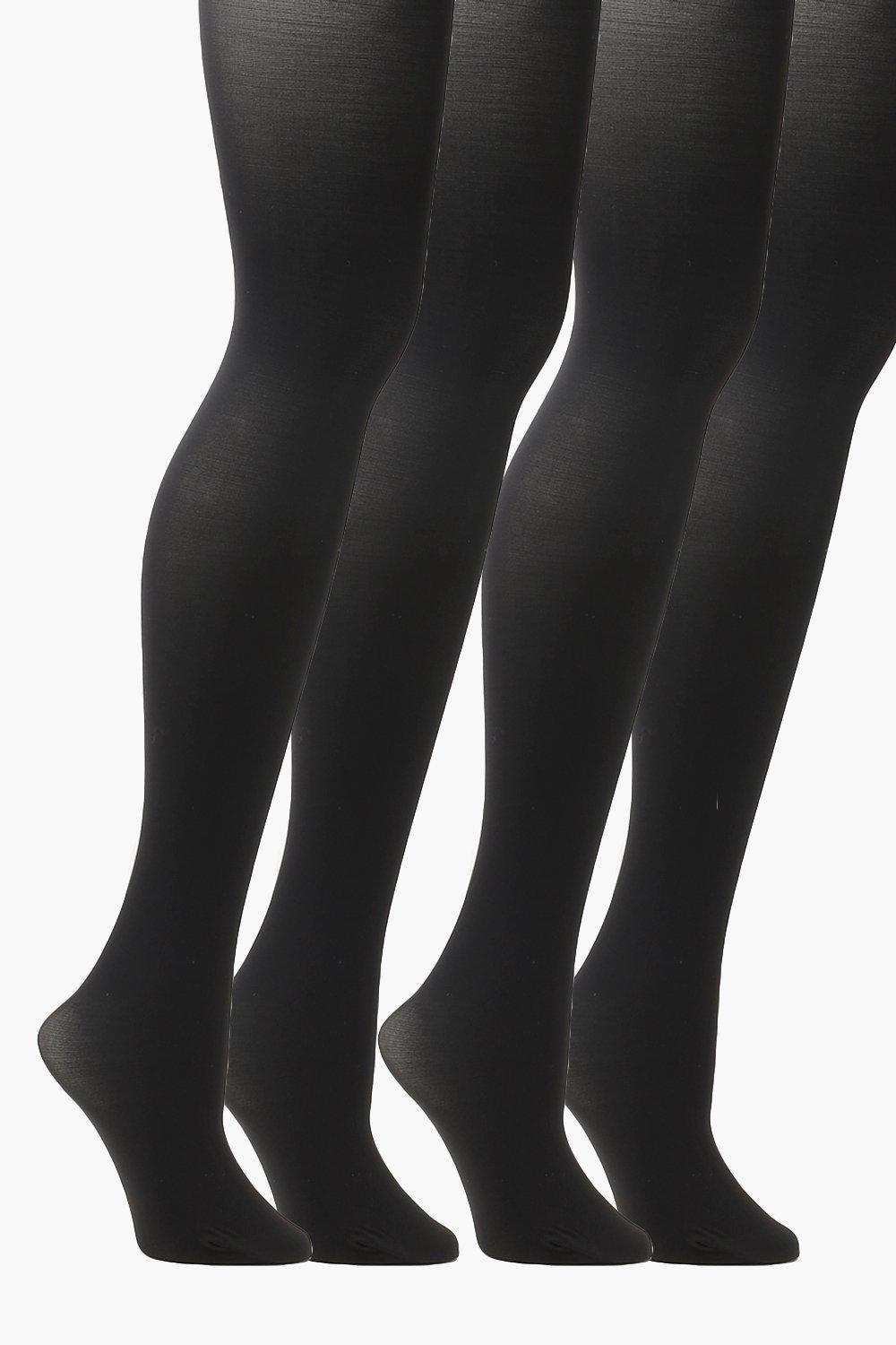 Plus 2 Pack 60 Denier Tights