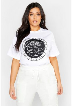Womens White Plus City Of Angels Cherub T-Shirt