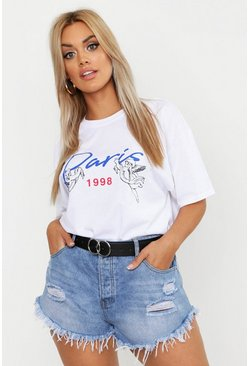 Plus - T-shirt Paris Cupid, Blanc, Femme