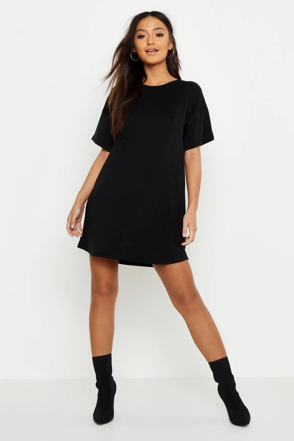 Petite Curved Hem T-Shirt Dress
