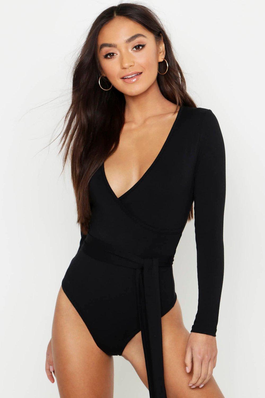 Petite Wrap Front Bodysuit