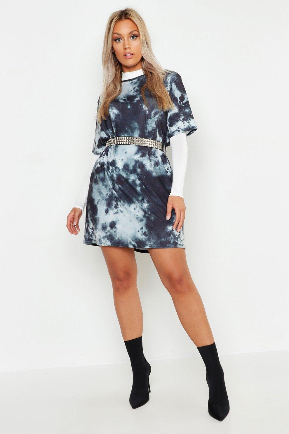 4f6db3f1689 Plus Tie Dye Oversized T-Shirt Dress