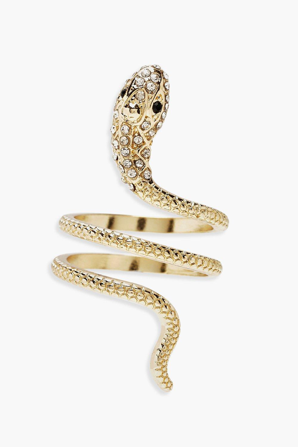 Plus Snake Diamante Ring