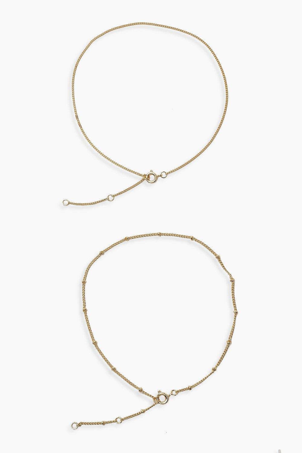Plus Gold Pendant Anklet