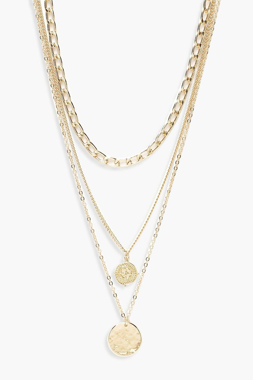 Plus Chain Pendant Layered Chocker
