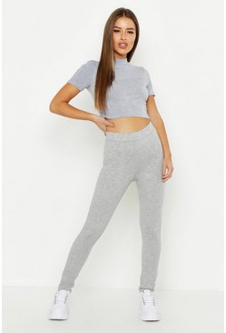 Womens Grey Petite Leggings