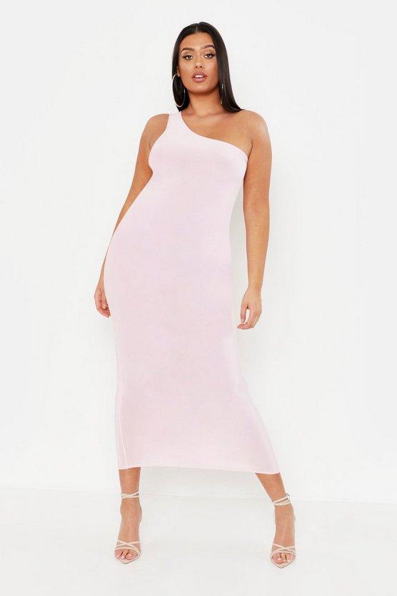 Plus Slinky Midi Dress by Boohoo