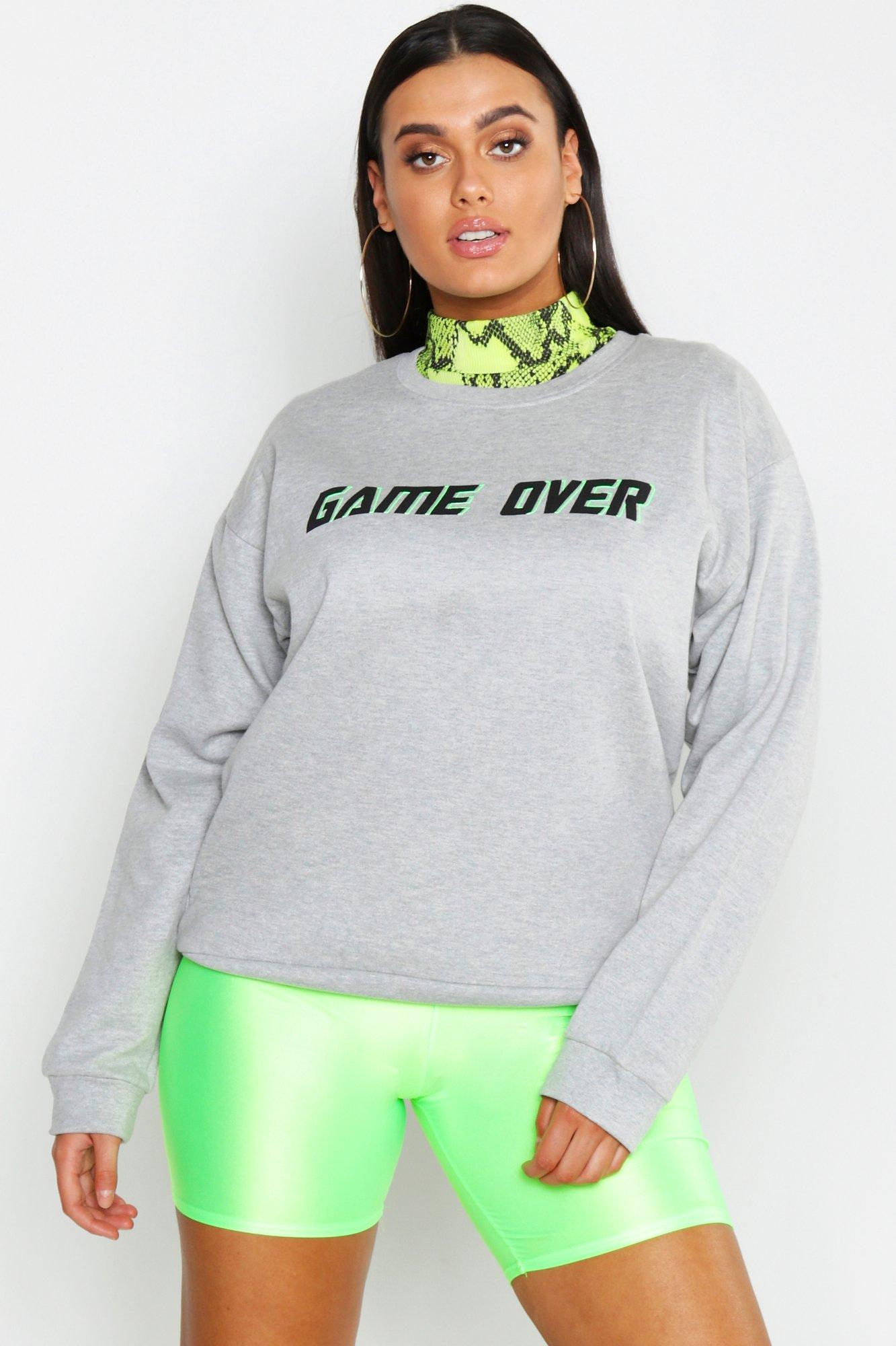 Plus Game Over Detail Sweat