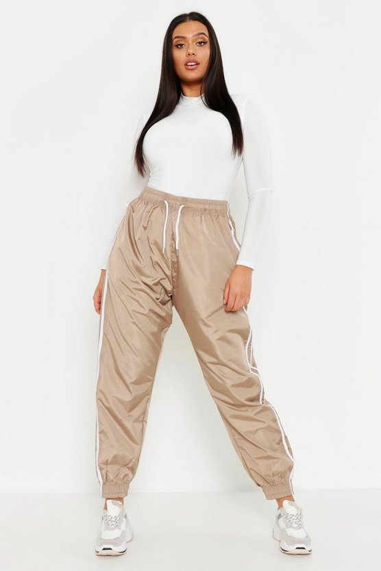 Camel Plus Side Stripe Shell Jogger