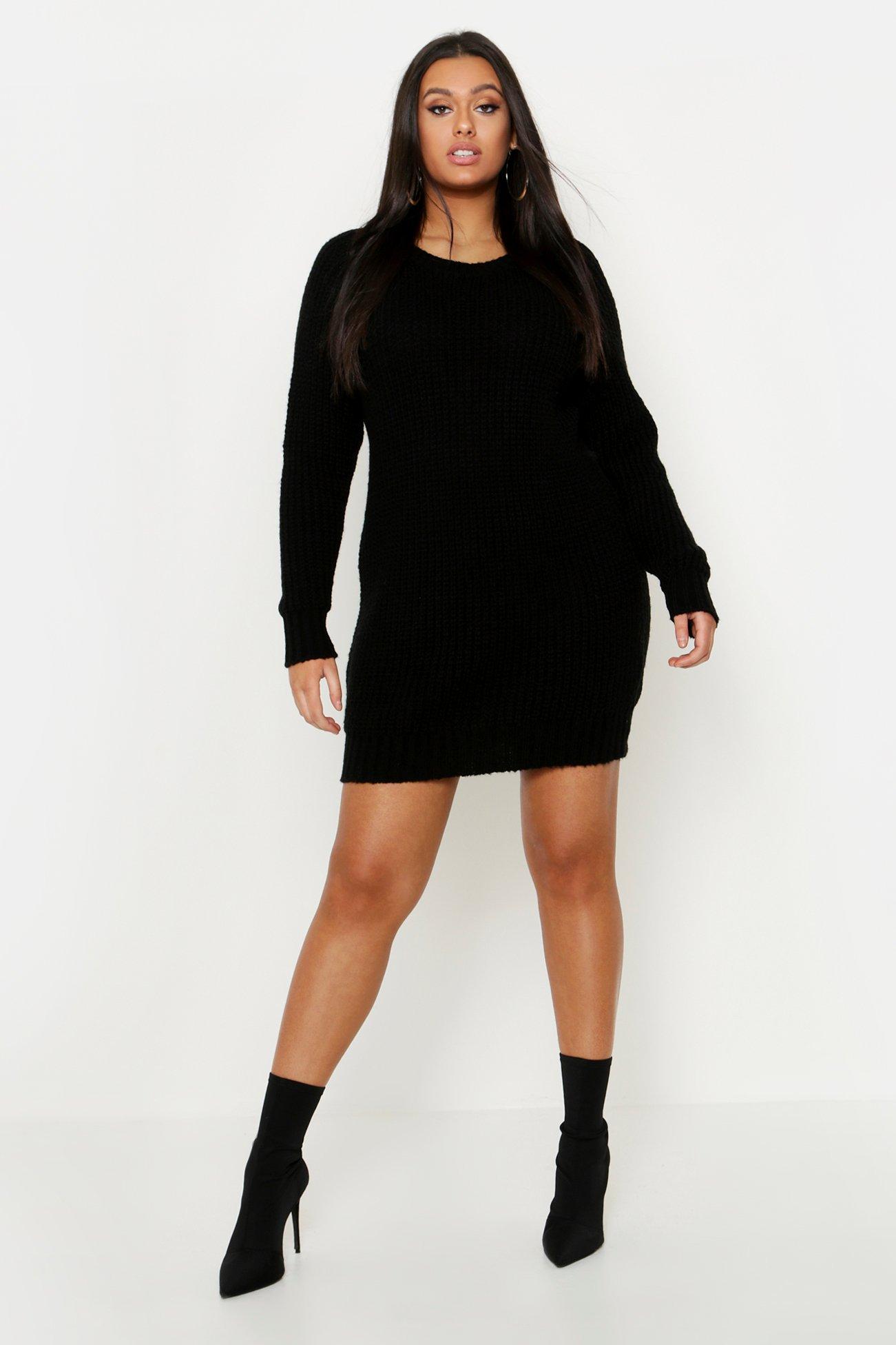 Plus Soft Knit Jumper Dress