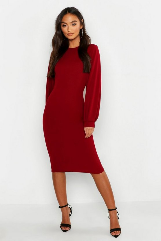Petite Balloon Sleeve Midaxi Dress