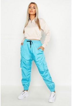 Womens Petrol Plus Pocket Side Shell Jogger