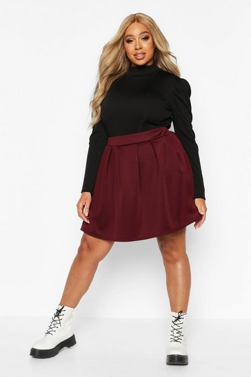 Berry Plus Scuba Mini Skirt