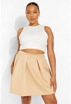 Stone Plus Scuba Mini Skirt