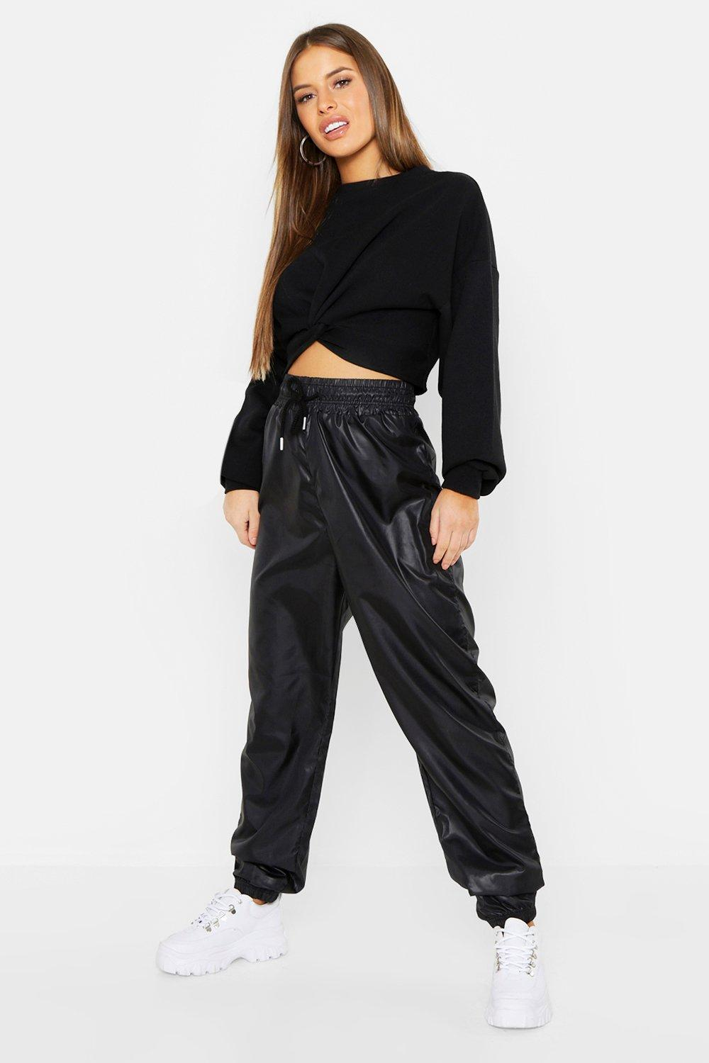 Petite Knot Front Cropped Sweat