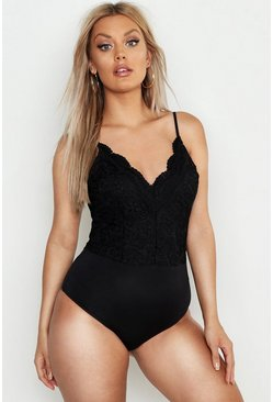 Black Plus Premium Lace Bodysuit