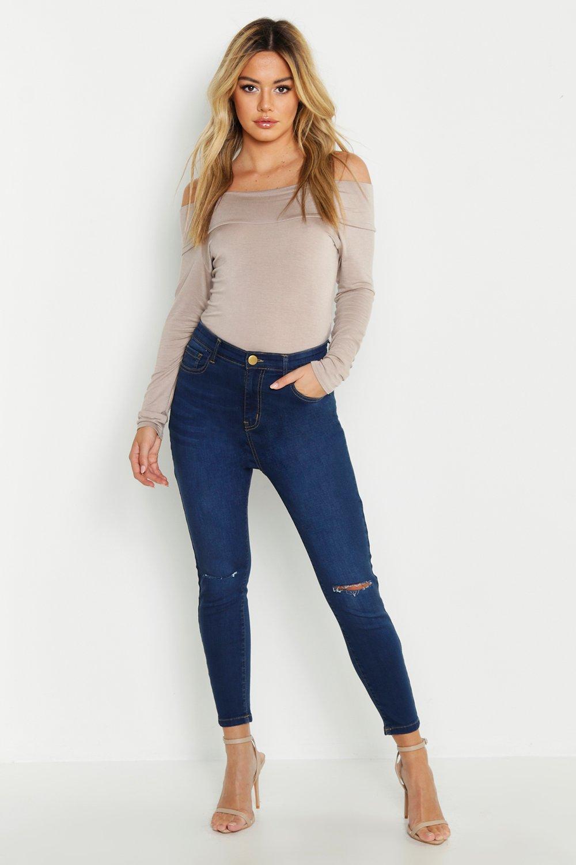 Petite High Rise Skinny Jean