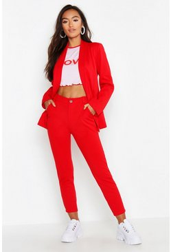 Womens Red Petite Tailored Trouser