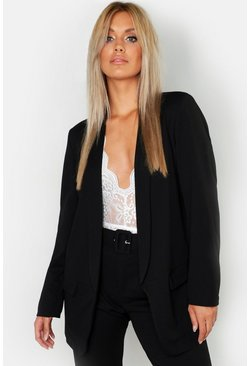 Womens Black Plus Tailored Blazer