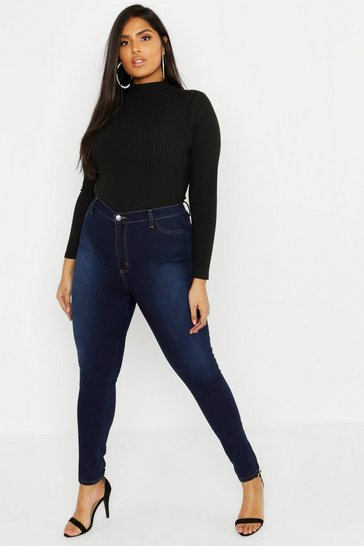 Indigo Plus Super High Waisted Power Stretch Jeans