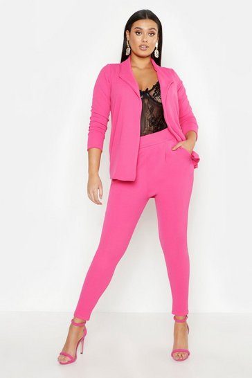 Womens Bright pink Plus Neon Suit Co-Ord