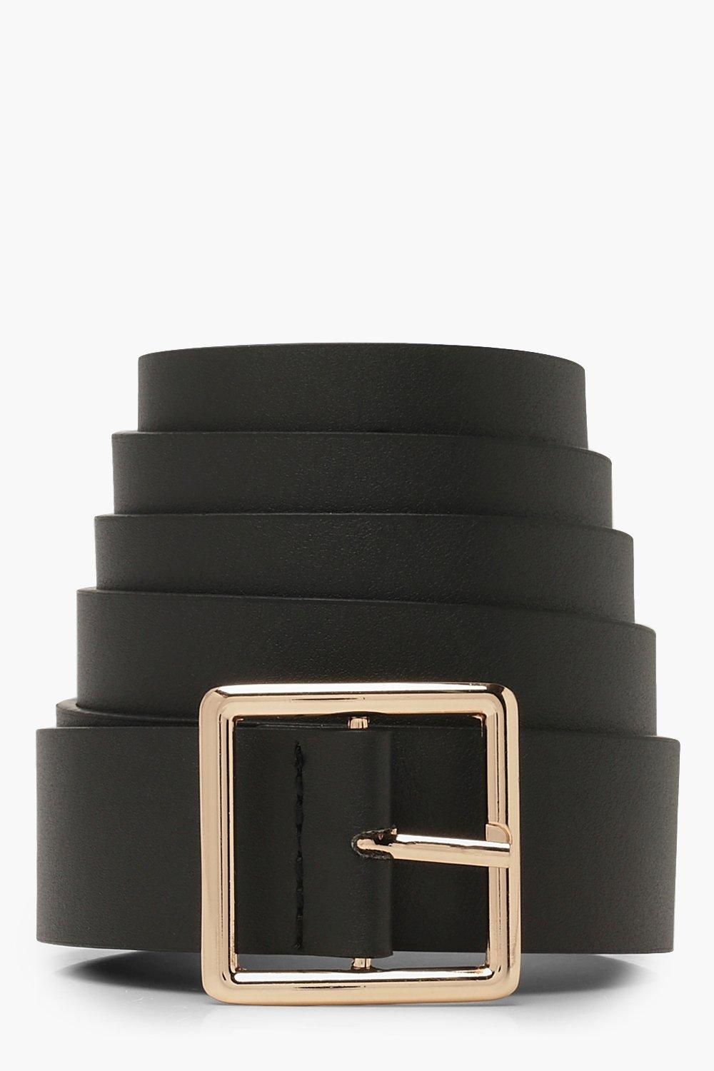 Plus Square Buckle Boyfriend Belt
