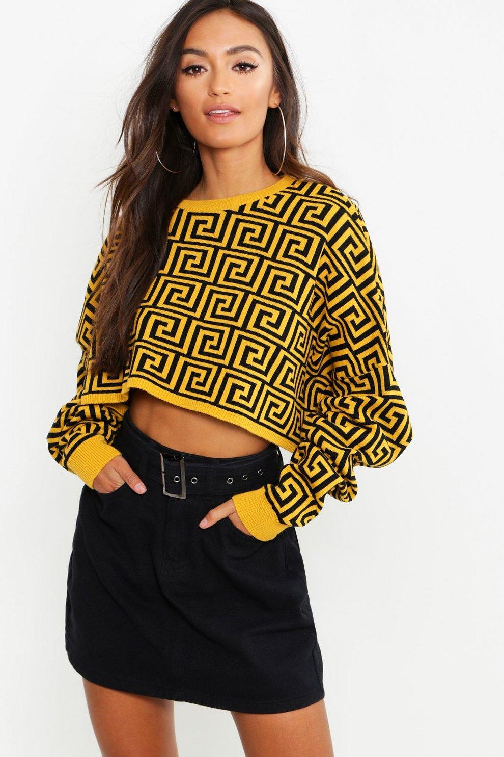 Petite Cropped Oversized Sweater  97a852ba7
