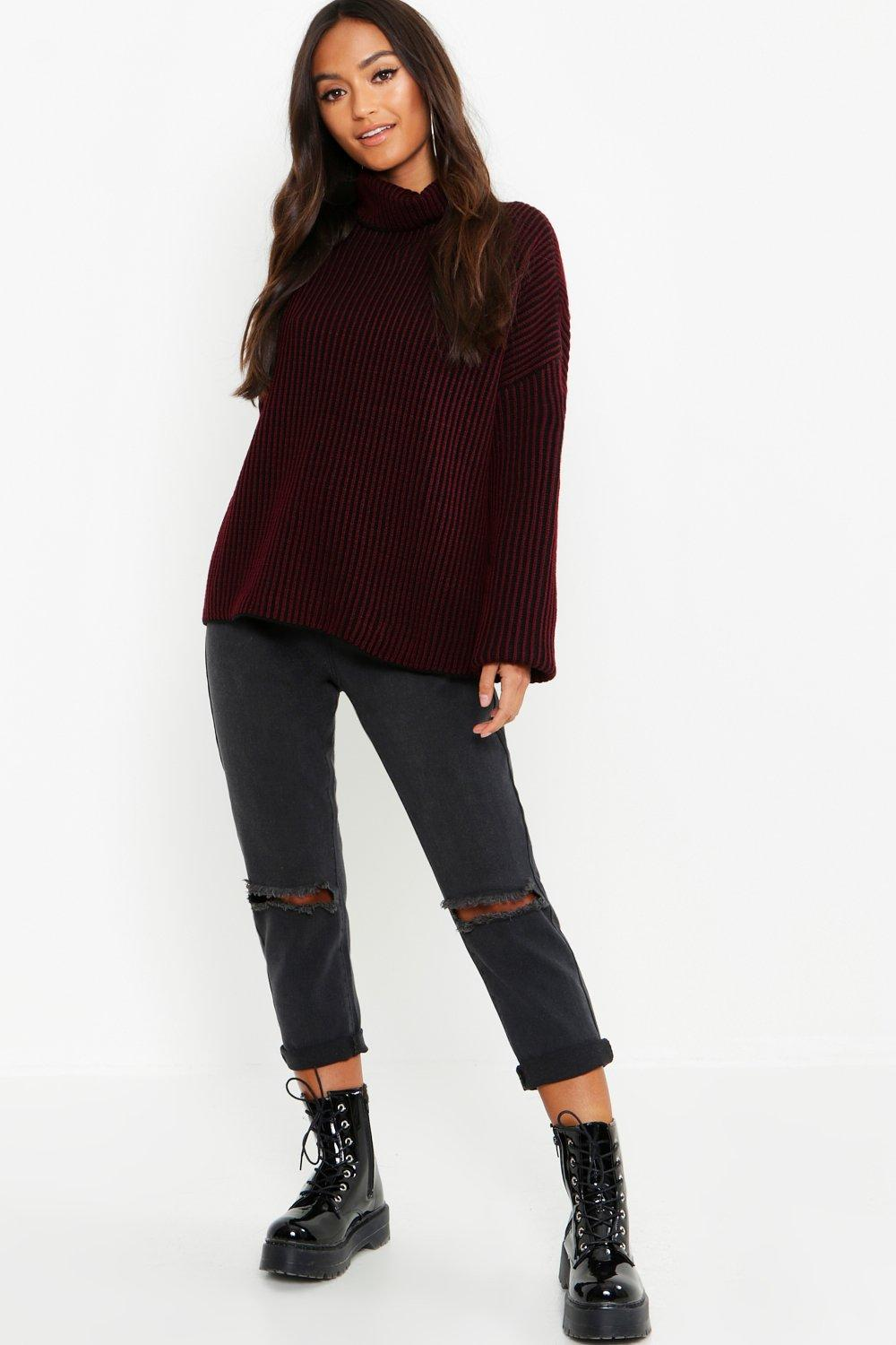 Petite Stripe Oversize Sweater. Hover to zoom 353c20732