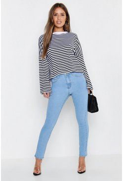 Light blue Petite High Waist Skinny Jeans