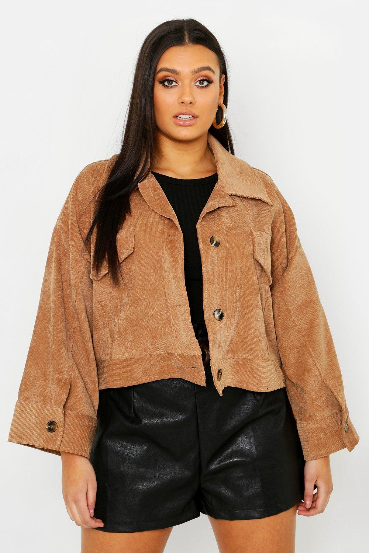Plus Cord Oversize Jacket