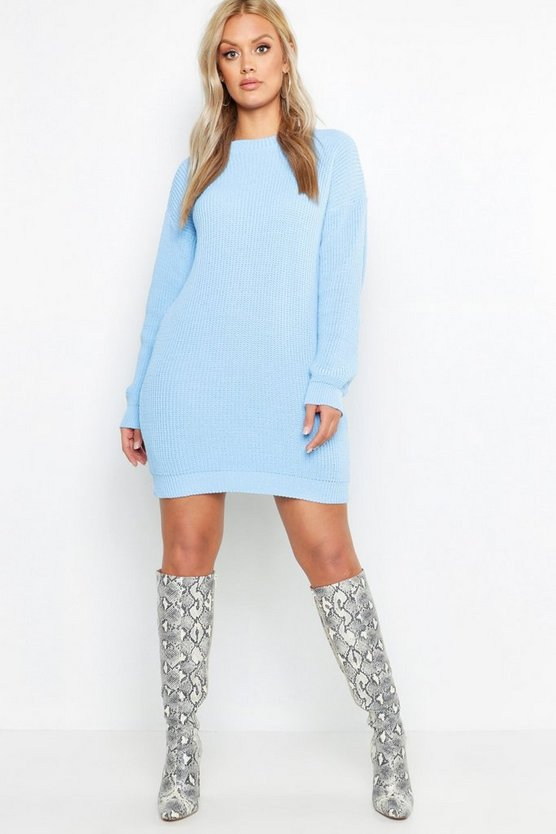 Womens Sky Plus Crew Neck Jumper Dress
