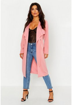 Blush Petite Eyelet Raw Edge Duster
