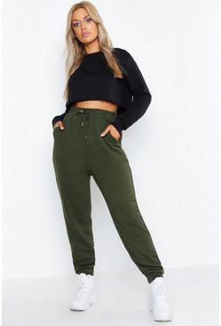 Khaki Plus Basic Oversized Jogger