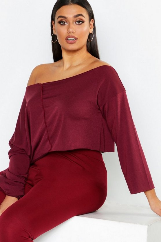 Berry Off Shoulder Sweater