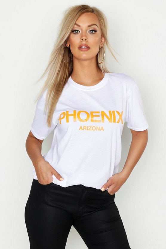 White Plus Phoenix Oversized T-Shirt
