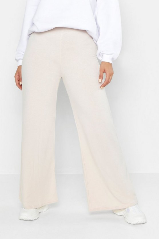 Womens Stone Plus Loopback Wide Leg Jogger