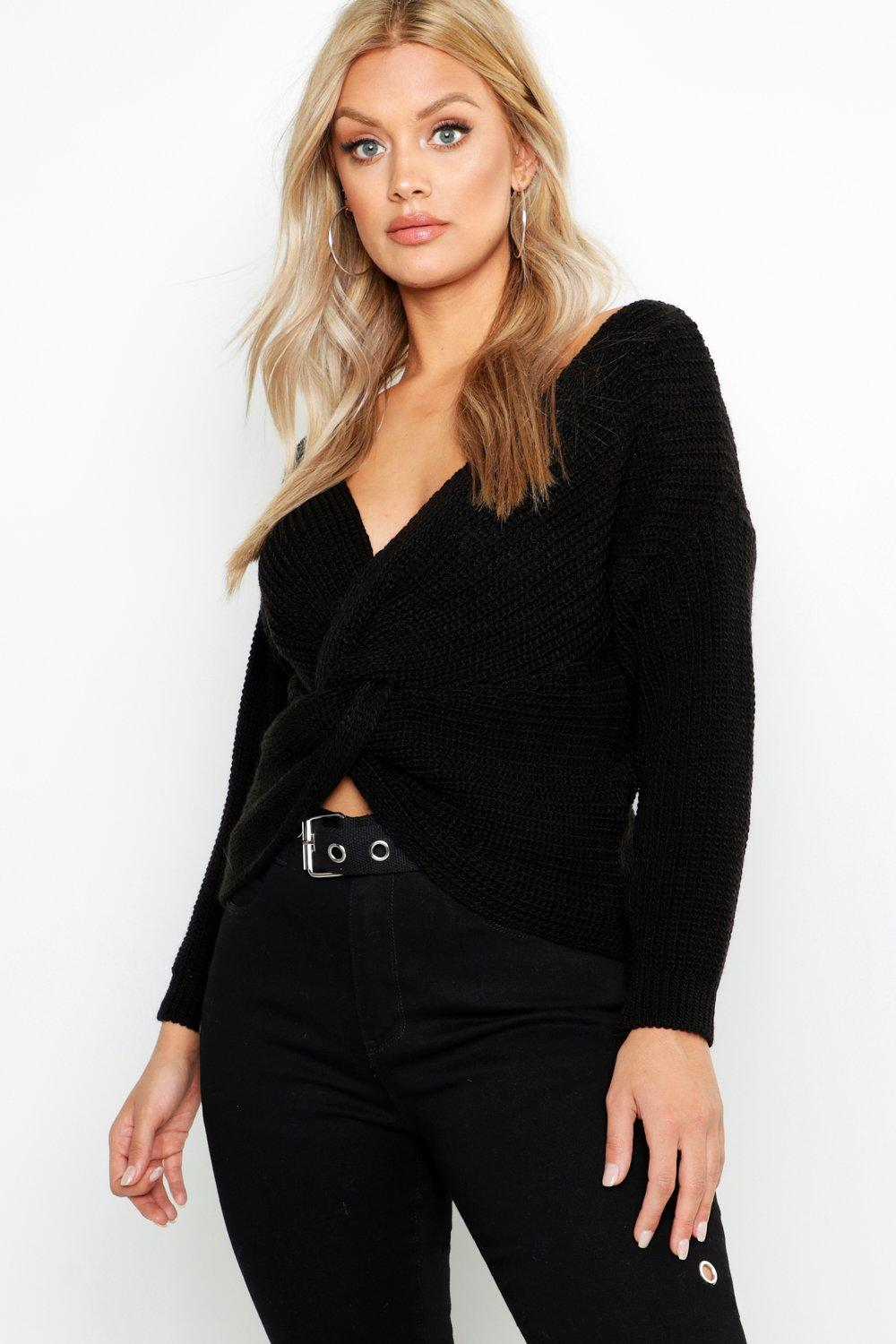 Plus Knot Front Jumper