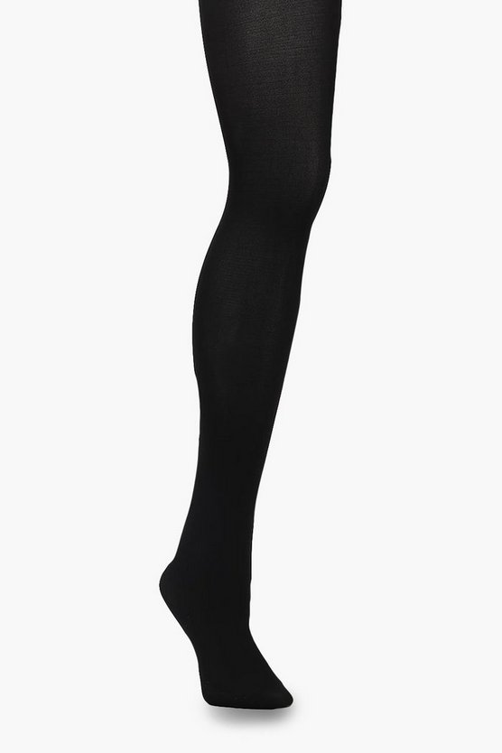 Womens Black Plus 60 Denier Tight