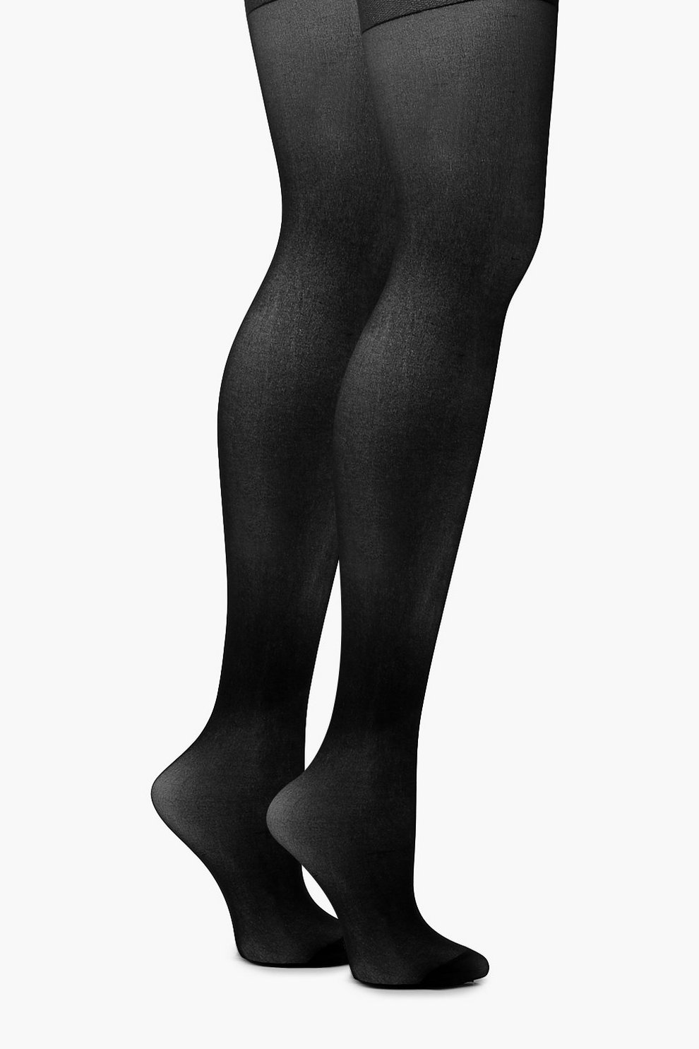 d609b590b300e Plus 15 Denier 2 Pack Tights | Boohoo