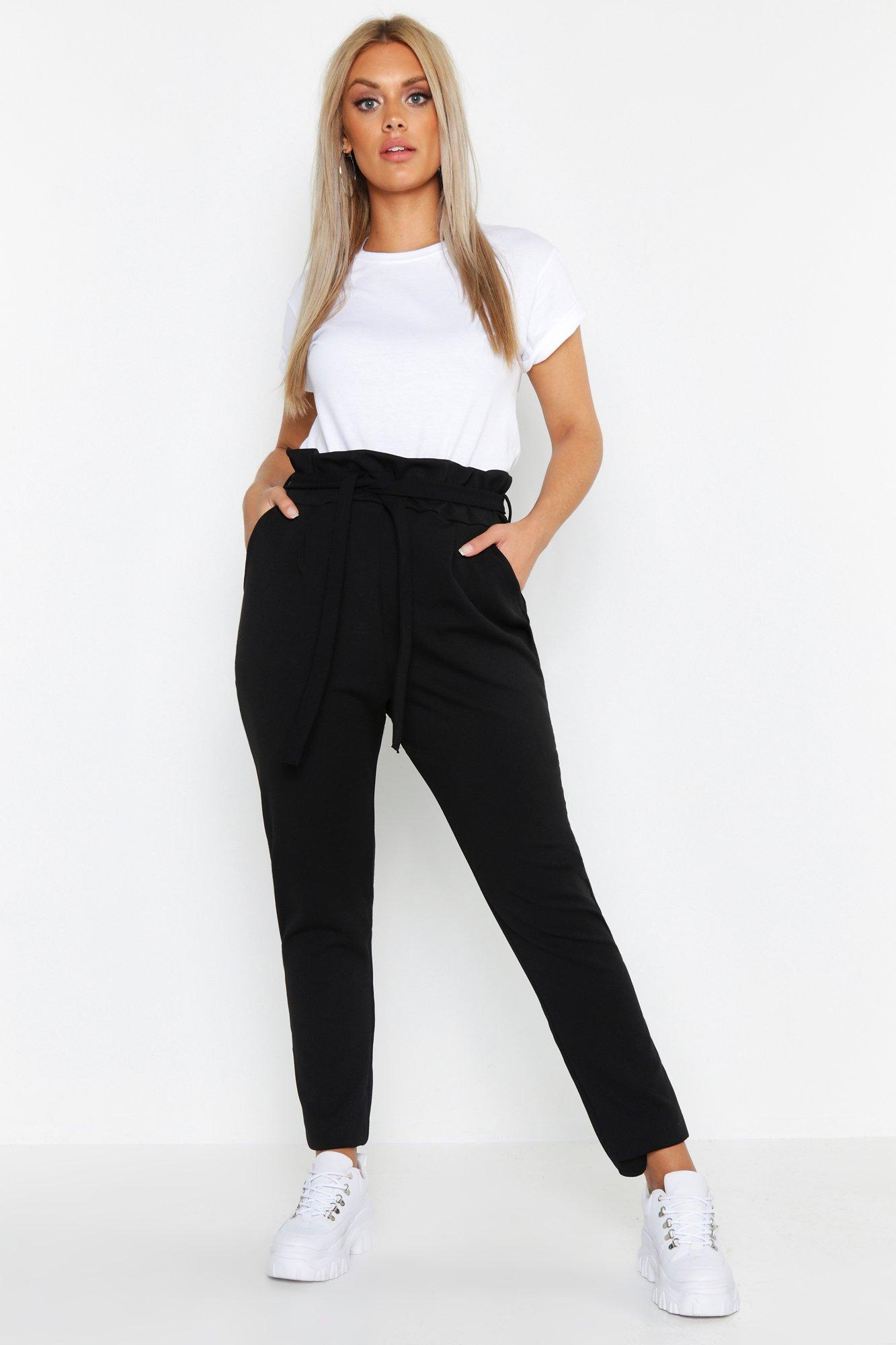 Plus Paperbag Tapered Trousers