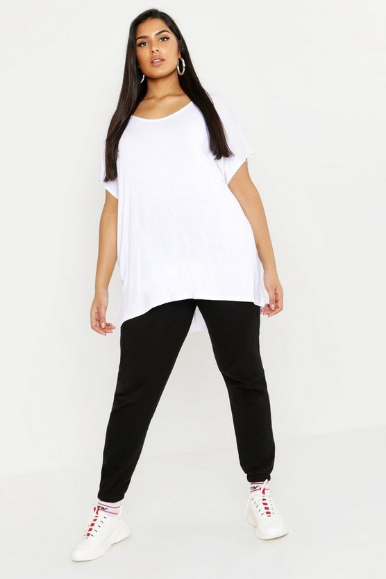 White Plus Oversized T-Shirt