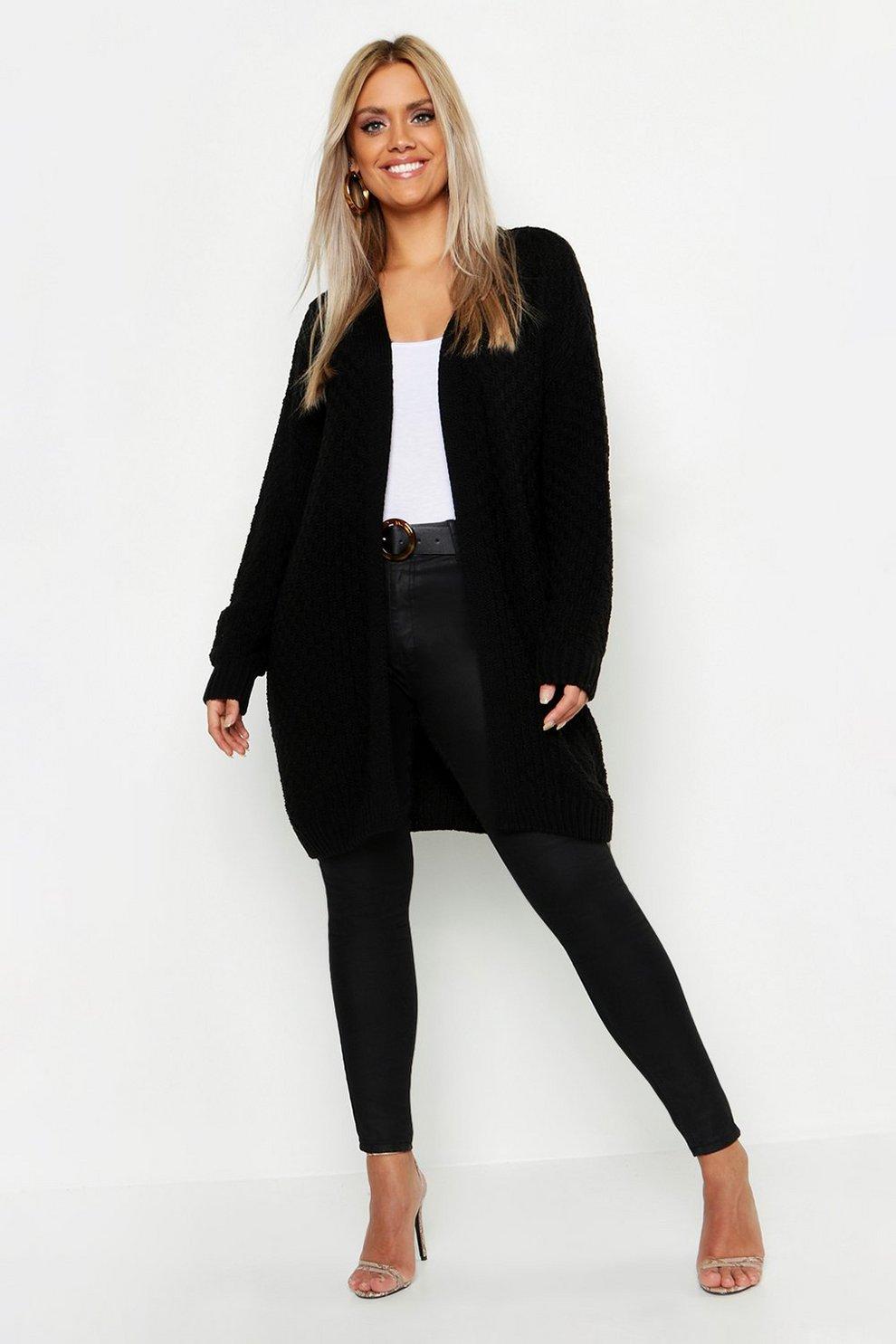vente chaude en ligne a1da3 c99a0 Plus Knitted Chunky Oversized Cardigan | Boohoo