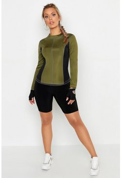 Womens Green Plus Fit Premium Double Layer Top