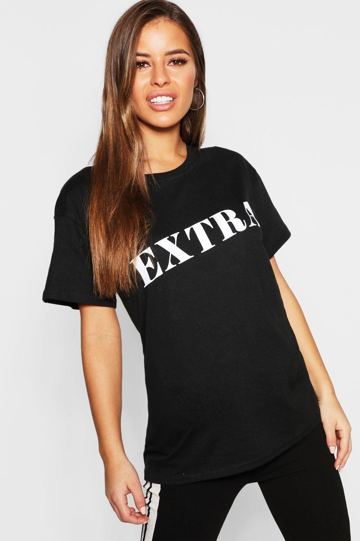 Petite Extra Slogan T-Shirt