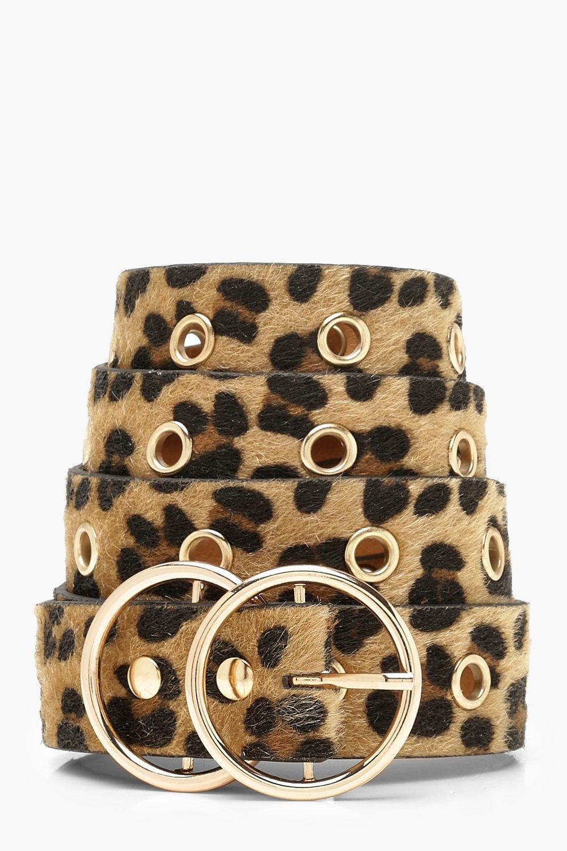 Plus Double Ring Leopard Belt
