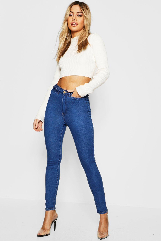 Petite Waist Detail Skinny Jean