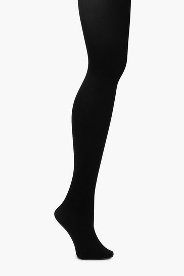 Womens Black Plus 100 Denier Tight