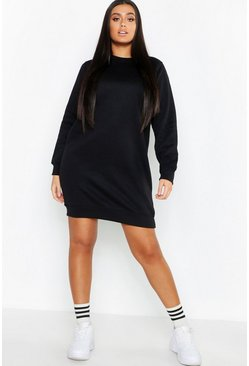 Womens Black Plus Basic Sweat Dress