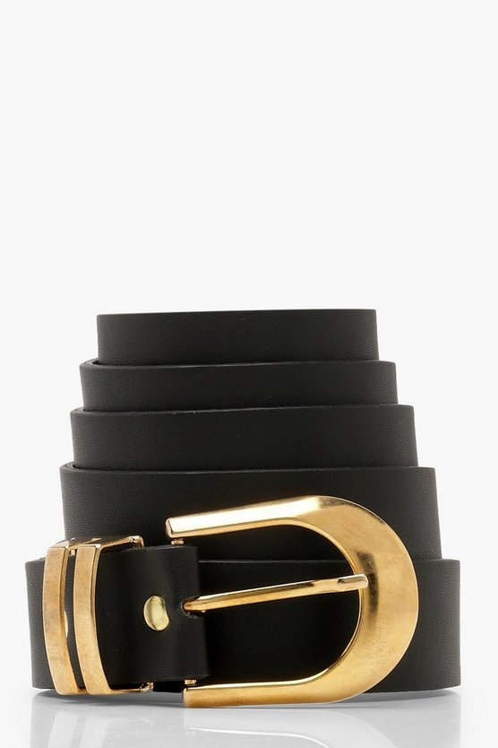 Plus Gold Buckle Belt