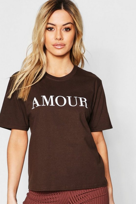 T-shirt à slogan Amour